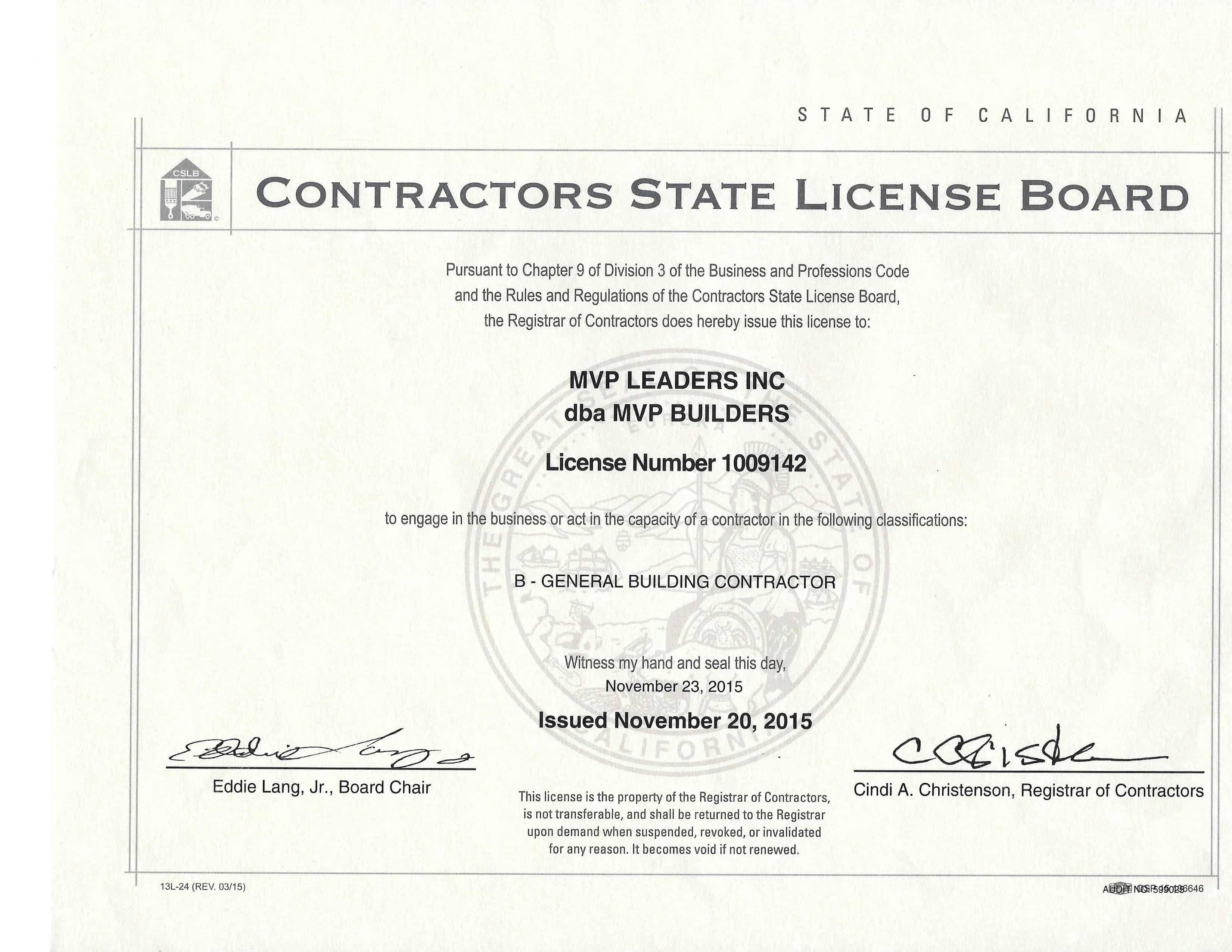 MVP BUILDERS – California Based Home Improvement Company